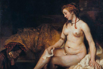Bathsheba at Her Bath Paintings