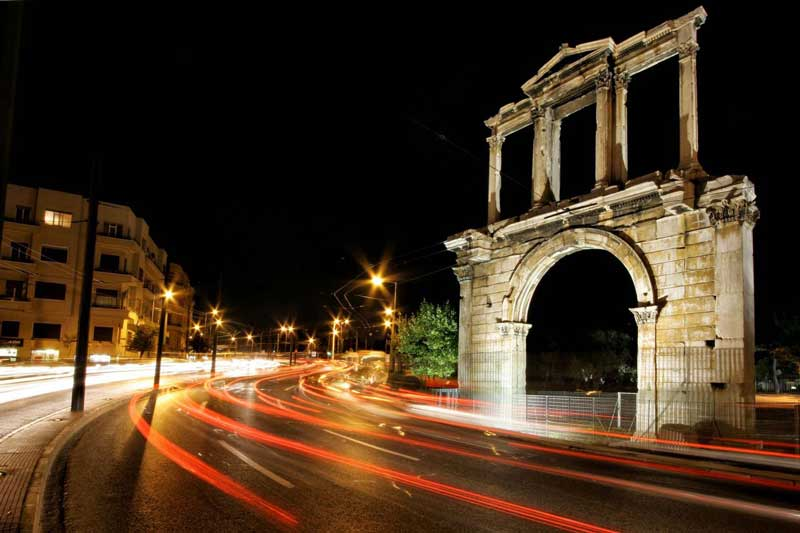 arch of hadrian athens greece