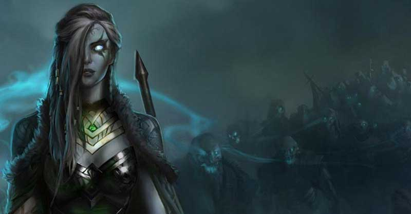 Goddess Hel with Fenrir and Jormungandr