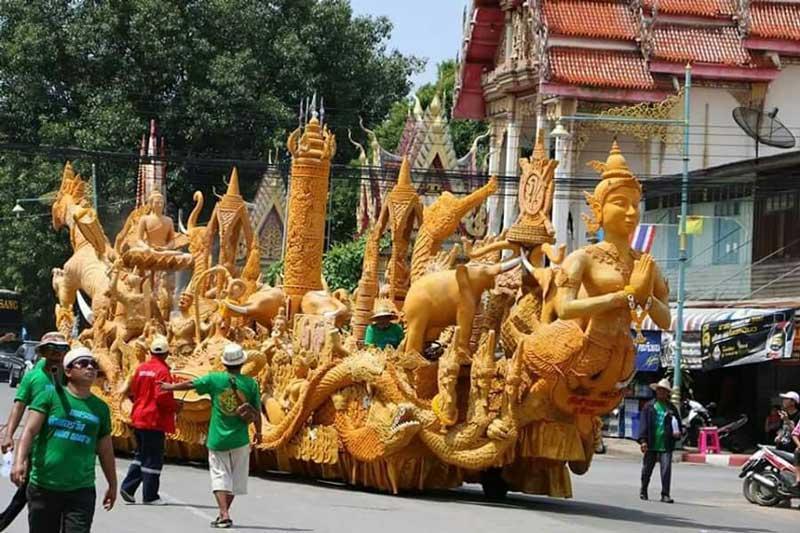 ubon ratchathani candle festival thailand