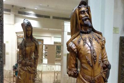 Double Statue Mephistopheles Margaretta Sculpture