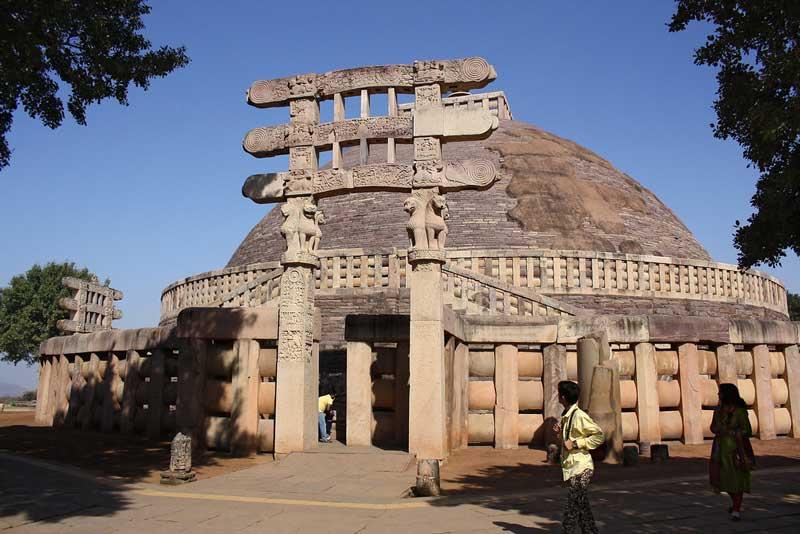 gateways of sanchi stupa bhopal india