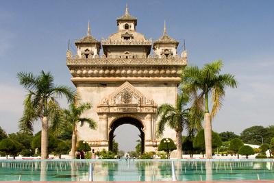 Patuxai Laos Gates