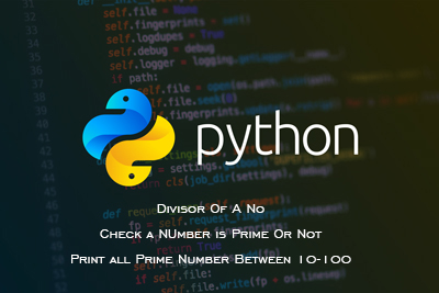 divisor prime numbers python CBSE