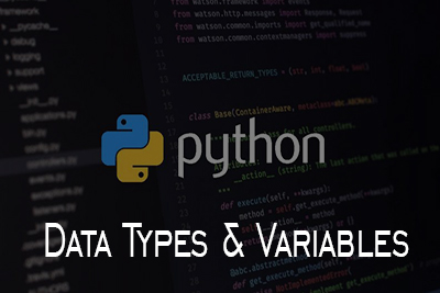 Data Types Variables Python