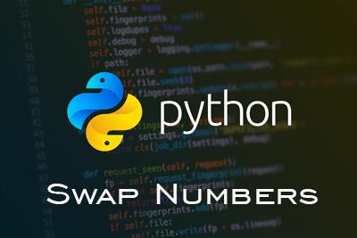 Swap Numbers Python CBSE
