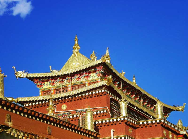 Gold plated roof of the Potala Palace
