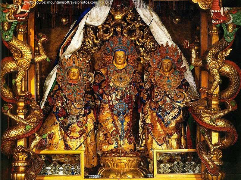 Inside the Chapel of Kalachakra