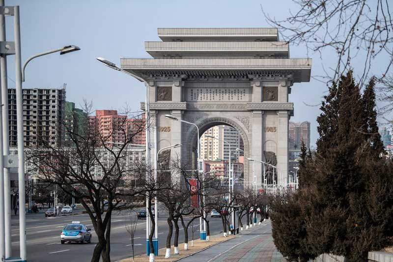 arch0 of triumph pyongyang north korea