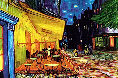 Café Terrace Night Paintings