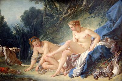 Diana Getting Out Bath Francois Boucher