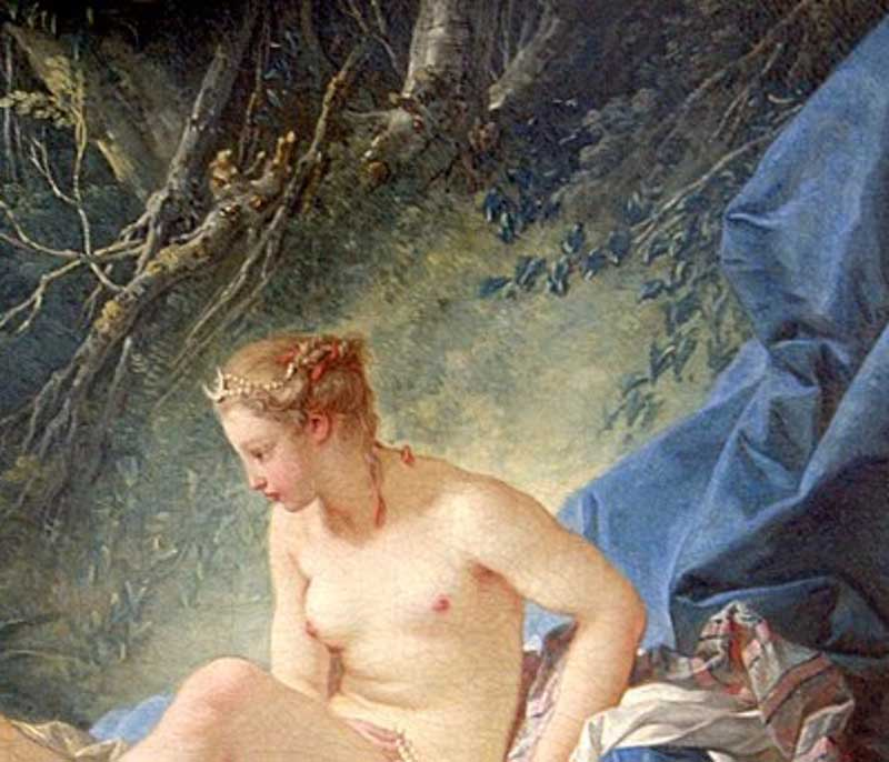 diana-getting out of her bath by francois boucher