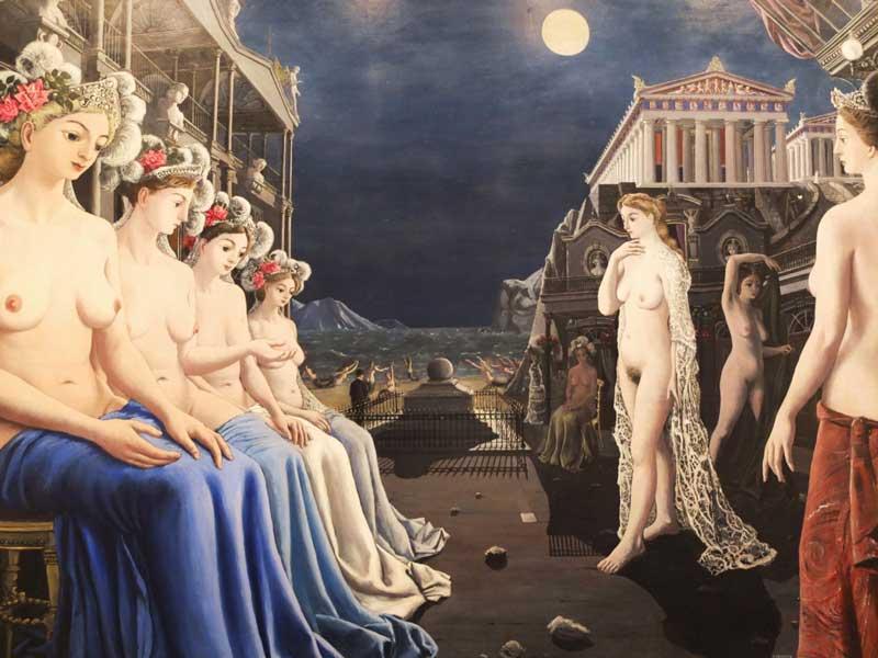four famous by paul delvaux